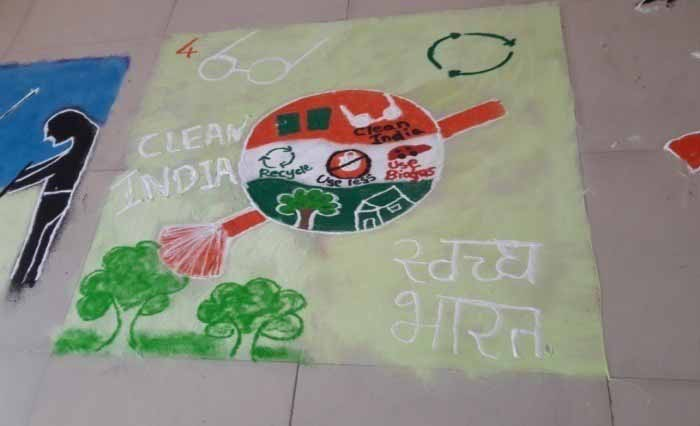 Rangoli Competition on Swachh Bharat Theme 1, PCCOER