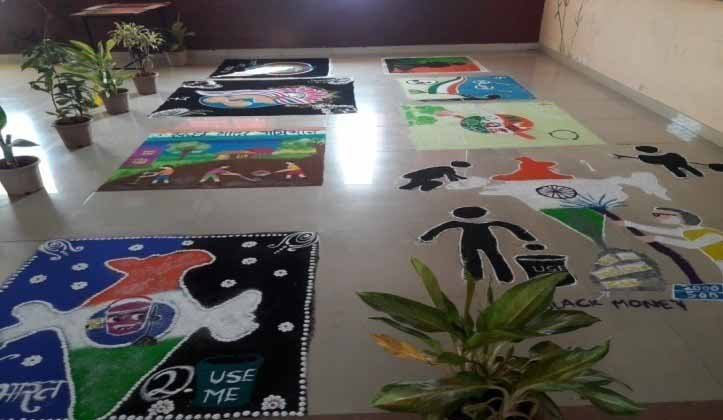 Rangoli Competition on Swachh Bharat Theme 2, PCCOER