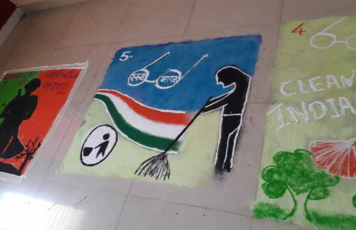 Rangoli Competition on Swachh Bharat Theme 3, PCCOER