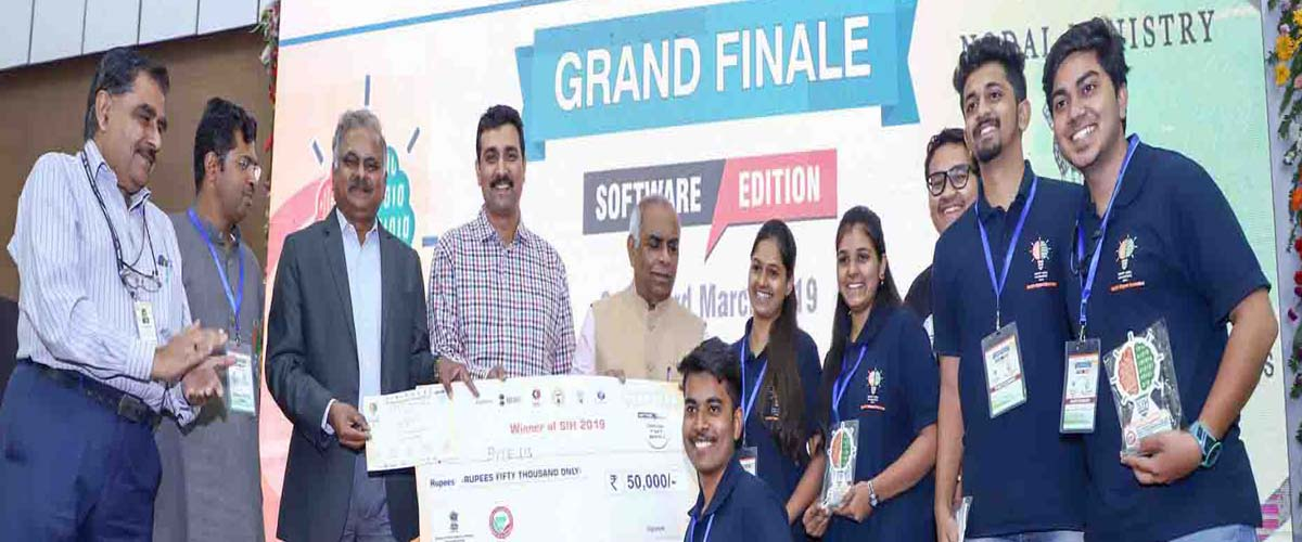 Team Byte-us Winner in Smart India Hackathon 2019 held at Bubaneshwar